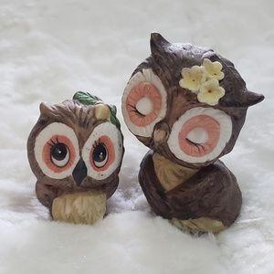 1975 George Good Small Owl Set Retro Boho Decor